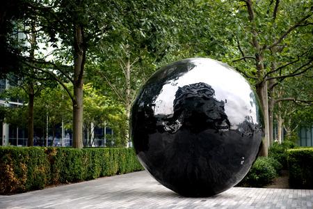 afs: The big black sphere sculpture on the bank of River Thames. Photographed using Nikon-D800E (36 megapixels) DSLR with AF-S NIKKOR 24-70 mm f2.8G ED lens at focal length 70 mm. Editorial