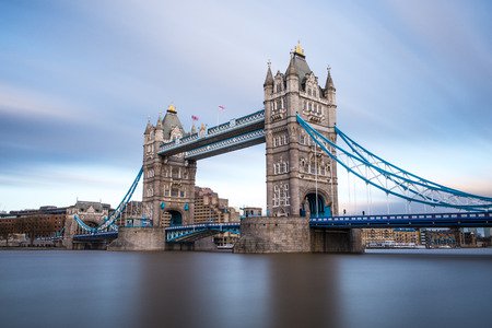 great britain: London Tower Bridge on the Thames River. It is an iconic symbol of London, United Kingdom. Stock Photo