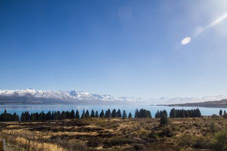 tekapo: LANDSCAPE OF LAKE TEKAPO