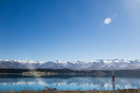 south island new zealand: LAKE TEKAPO SOUTH ISLAND NEW ZEALAND