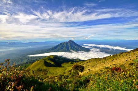 Merapi volcano on Java island