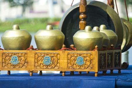 gamelan: Bonang and Gong gamelan instrument