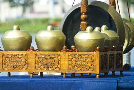 gamelan: Gamelan Musical Instruments Bonang and Gong