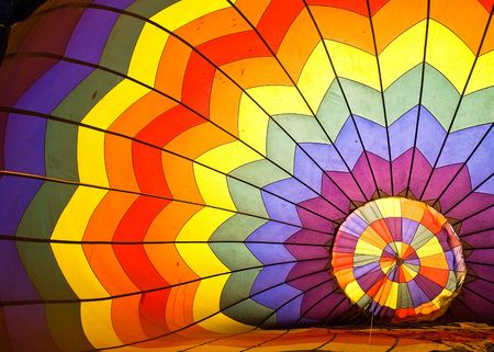 Picture inside a colorful hot air balloon during the first Putrajaya International Hot Air Balloon Fiesta in Putrajaya, Malaysia held from 19 to 22 March 2009