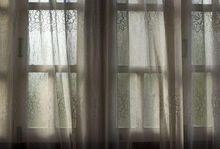A close window inside Malay house photo