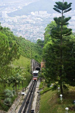 penang: Penang Hill Funicular Train Stock Photo