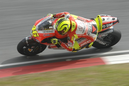 Sepang International Circuit, Malaysia –  February 23rd to 25th, 2011 - Ducati Team rider Valentino Rossi of Italy in action during the 2011 pre-season test at Sepang