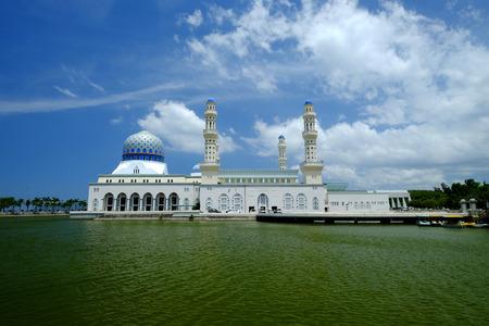 likas: The beautiful Kota Kinabalu City Floating Mosque, Sabah Borneo Malaysia