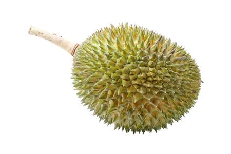 Durian: Sầu riêng, vua của trái cây của Đông Nam Á trên nền trắng