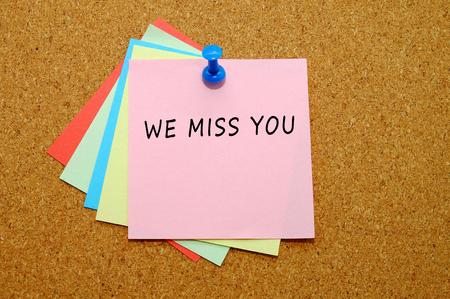 we miss you Stockfoto