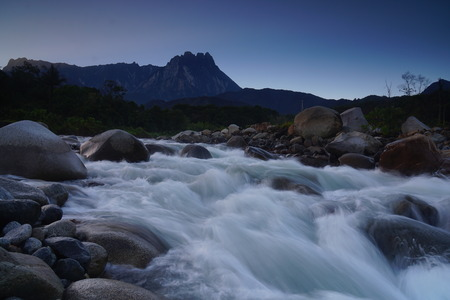 lows: River in the tropical rainforest jungle of Borneo Sabah Malaysia Stock Photo