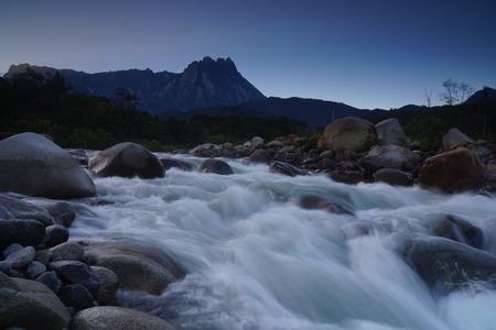 hugh: River in the tropical rainforest jungle of Borneo Sabah Malaysia Stock Photo