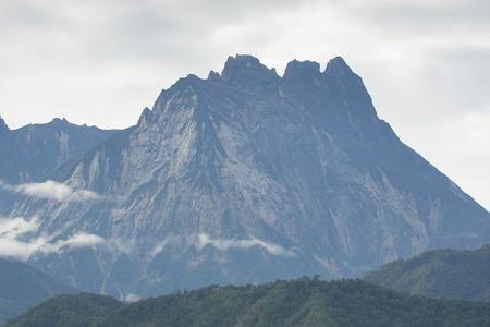 hugh: Beautiful view of Mount Kinabalu, the highest peak in the Malay Archipelago, Borneo, East Malaysia. Stock Photo