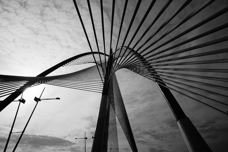 Abstract Modern Bridge Architecture Stock Photo