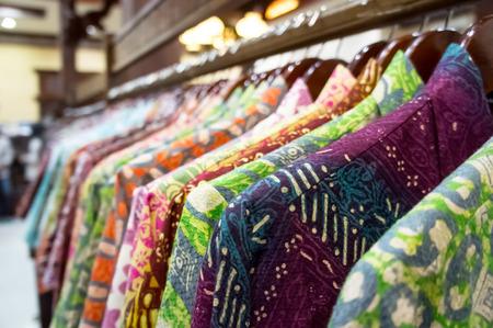Batik shop Stock Photo