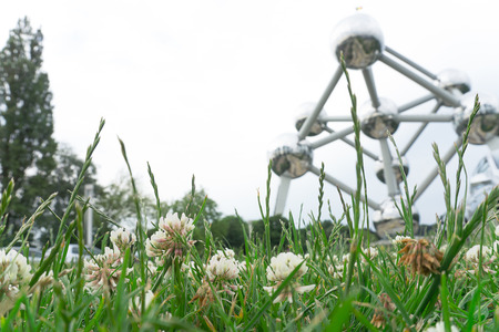 Atomium Monument, Brussels. Atomium is one of the landmark in Belgium and become tourist attraction. Editöryel