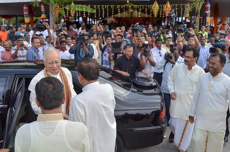 tun: Kuala Lumpur, Malaysia  November 2, 2013. 6th Malaysia Prime Minister, Najib Razak, meeting with people during open house on Deepavali celebration in Kuala Lumpur, Malaysia.