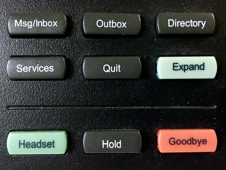 Telephone function buttons close up view. Communication and networking concept. Options for us to choose. Stok Fotoğraf