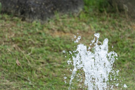 Shot of water splash. Water and energy concept 