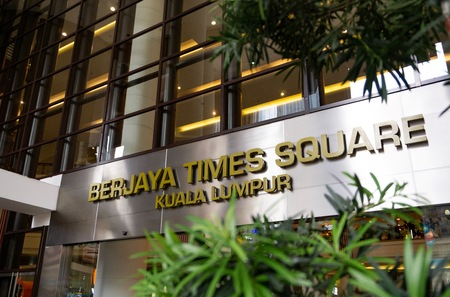 Main entrance of Berjaya Times Square. It is one of the famous shopping centre in Kuala Lumpur. 