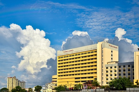 Shot of Grand Margherita Hotel in Kuching Sarawak, Malaysia. Sarawak's first international hotel, it is located by the riverfront and commands an unrivalled view of the picturesque Sarawak River and colourful Malay villages. 