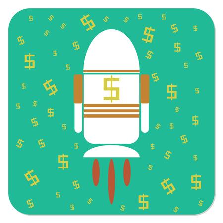 exchange rate: rocket dollars, adalh an illustration depicting the exchange rate rise skyrocket