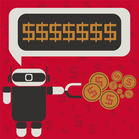 ROBOT MONEY Reklamní fotografie - 38741372