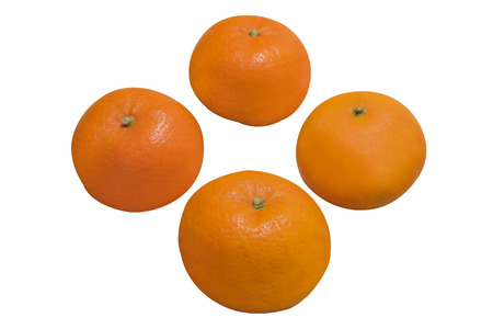 rich flavor: 4 Mandarin Orange isolate on white background