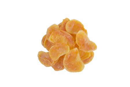 rich flavor: Dried Mandarin Orange isolate on white background