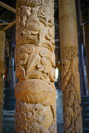 gratifying: Thai Owl Art piece Wooden in Chiang Rai
