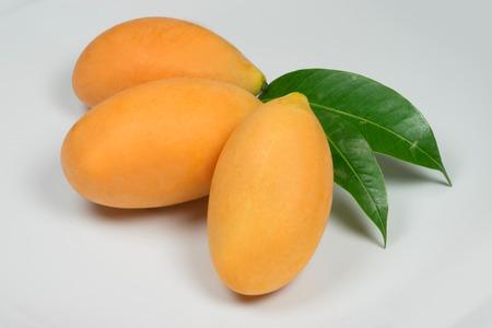 rich flavor: Delicious tropical Marian Plum Stock Photo