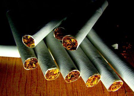 cigarettes lying