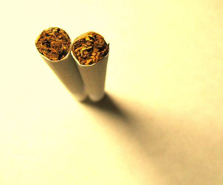 two cigarettes Stock Photo