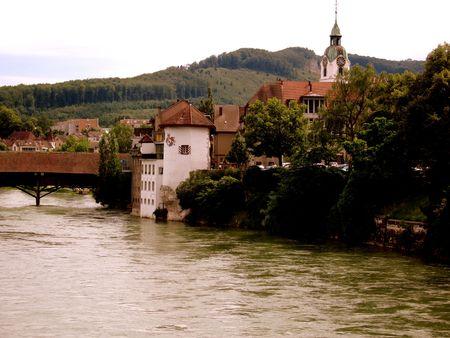 german swiss: City of Olten in Switzerland Stock Photo