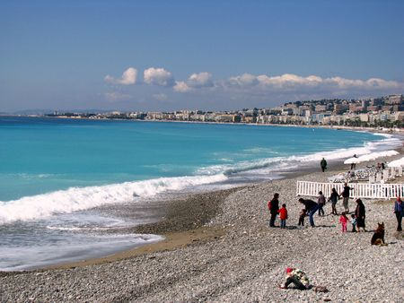 onshore: Beachlife in Nice, southern france