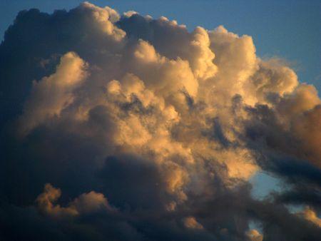 god walking: clouds on the camino de santiago Stock Photo