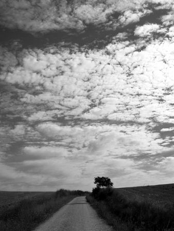 god walking: coulds, sky and the road on the pilgramage to santiago