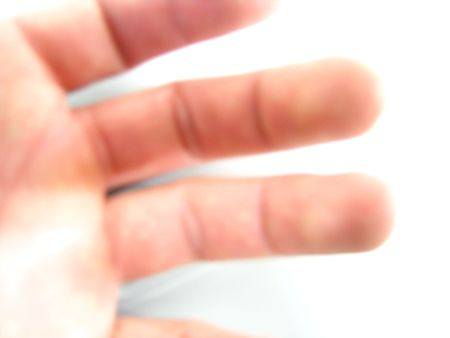 knuckles of three fingers photo