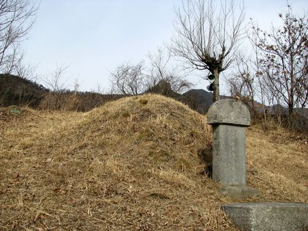 typical and traditional grave in korea