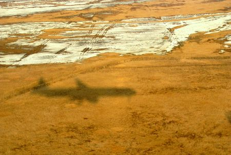 shadow of an airlane photo