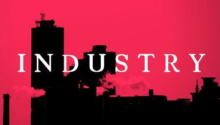 smoking chimenees of industrybuildings in seoul photo