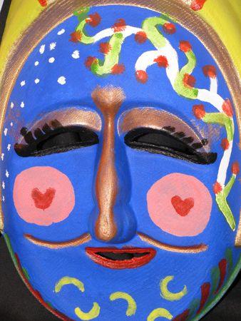 semblance: self made korean traditional mask for dancing Stock Photo