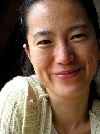 young pretty korean woman face photo
