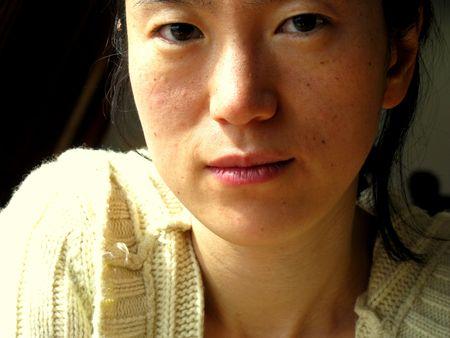 young pretty korean woman face Stock Photo - 4590406