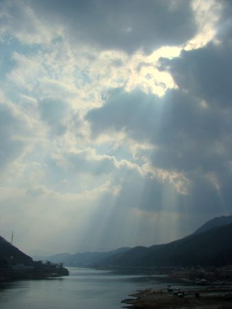 sun light, clouds, sky photo