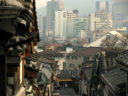 panoramic view of the city of seoul