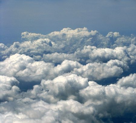 billow: clouds in the sky