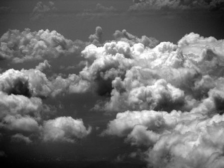 irradiation: clouds in the sky