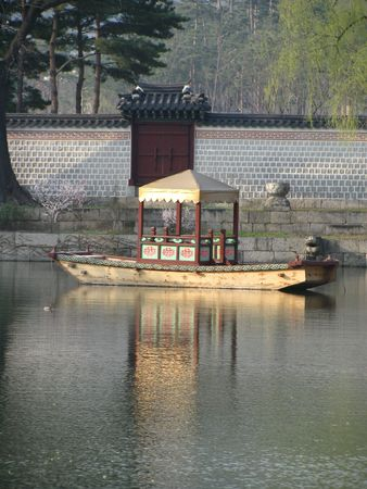 beautiful traditional boat on the river  photo