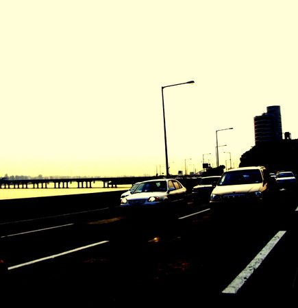high way in the city of seoul photo